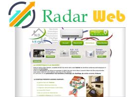 site web pour entreprise de climatisation et chauffage